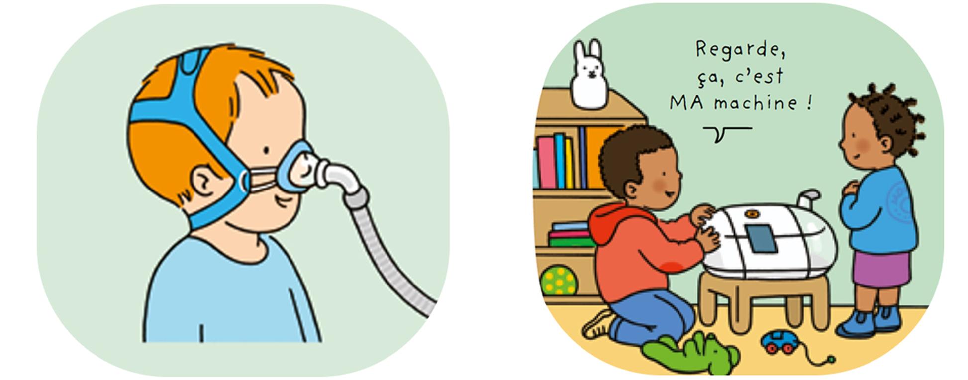 illustrations du test salivaire